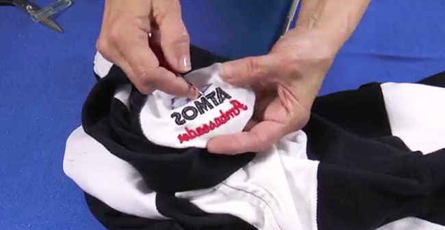 Removing Machine Embroidery