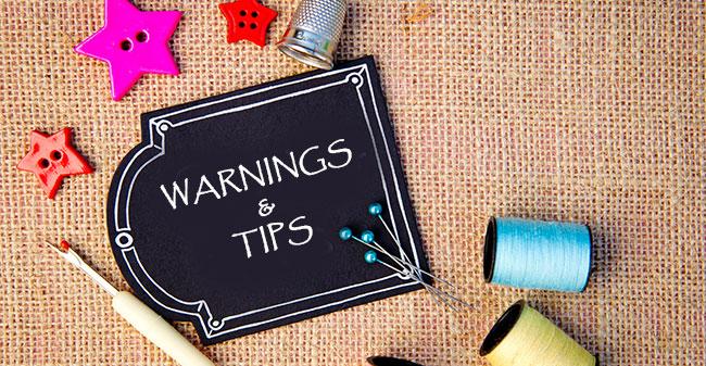 Helpful Tips and Warnings