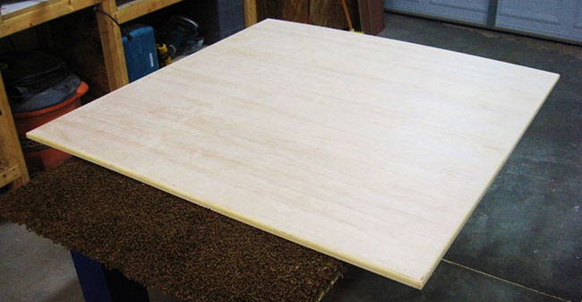 how to make a sewing table: Shape Tabletop