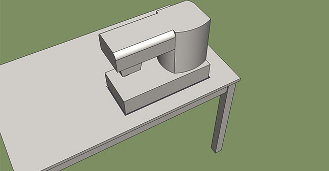 how to make a sewing table: Trace machine