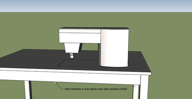 how to make a sewing table: Raise Machine