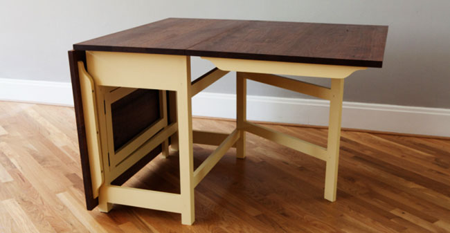 how to make a sewing table: Making of a gate leg sewing table: