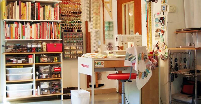 setting up a sewing room: Storage and organization