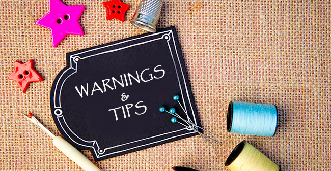 how to make a sewing table: Tips and warnings