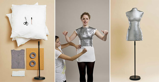 how to make your own dress form: Yes, you can use your duct tape!