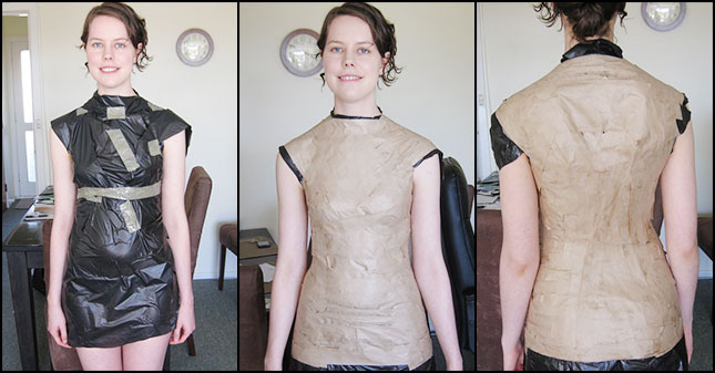 how to make your own dress form: Yes, paper mache might also be useful