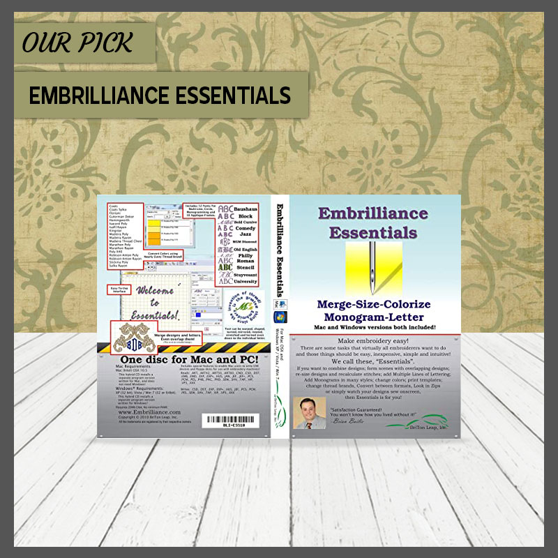 Embrilliance Essentials Embroidery Software for Mac PC